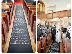 Love Note Aisle Runner / 37 Things To DIY Instead Of Buy For Your Wedding (via BuzzFeed)