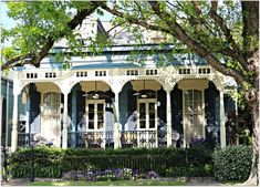 New Orleans Homes and Neighborhoods » New Orleans Historic Homes Porches and Shady Afternoons…. in May.