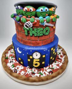 Sweets, treats, and custom cakes in San Jose — C'est Si Bon Bakery Pizza Party Birthday, 7th Birthday, Ninja Turtle Birthday Cake, Bite Size Cookies, Pizza Cake, Cake Board, Small Cake, Cake Creations, San Jose