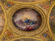 Chateau de Versailles | ... du plafond de la Galerie des Glaces de Versailles de Charles Le Brun