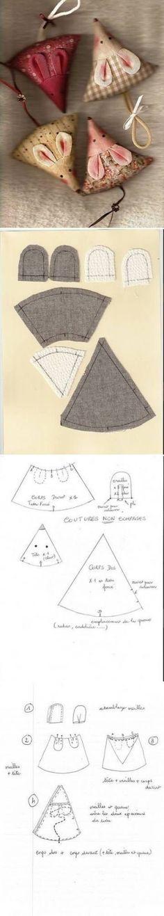 DIY Cute Fabric Mice by c_robinson94