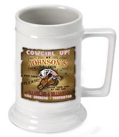 New product alert! Personalized 16oz... Get it here: http://reddragonunleashed.com/products/16oz-ceramic-beer-stein-cow-girl?utm_campaign=social_autopilot&utm_source=pin&utm_medium=pin
