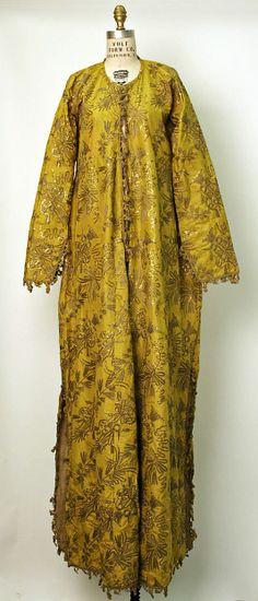 18th century turkish costume | Turkish Robe, 18th century–19th century, silk, metallic, cotton