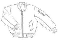 Image result for bomber jacket fashion spec drawing