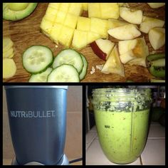 #nutribullet #nutriblast #healthy #rawfood #vegan #lunch #organic #kale #chard #spinach #avocado #pineapple #apple #kiwi #cucumber #ginger for #life!