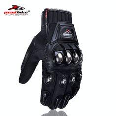 Motocicletas hombres llenos del dedo Guantes Motocycle Accesorios y Piezas de aleación de acero Equipo de Protección guantes para motociclistas proteger