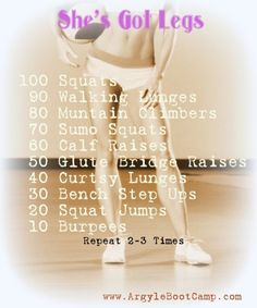 Leg Workout - no doubt this would work... If I actually did it!