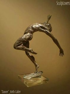 Male Men Youths Masculine Statues Sculptures statuettes figurines by Keith Calder titled: 'Layback Male Dancer (nude man Small/little Indoor statues/statuettes)'. Bronze Sculpture, Sculpture Art, Art Of Man, Sculptures For Sale, Best Dance, Male Man, Stone Carving, Artist Names, Medium Art