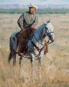 Bruce Greene, In the Big Pasture, oil on canvas, 20 x 16, $8,900.00. For more information about this painting, please contact the gallery at 817-416-2600 or richard@greatamericanwestgallery.com