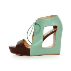 mint cut out wedges