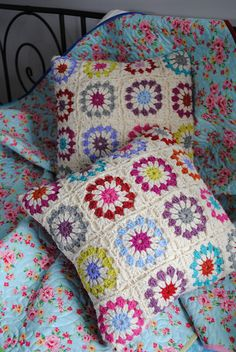 My first granny cushions.