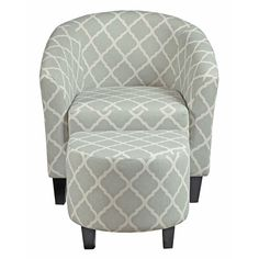 Found it at Wayfair - Upholstered Barrel Chair and Ottoman Set