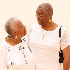 """Barbara Pilgrim and Geraldine in Whitsett Bedford-Stuyvesant: """"We met in Bedford-Stuyvesant in the 1960s and now — 48 years later — we're getting married,"""" Whitsett said. """"I've been proposing to Barbara for years. We've often talked about going to Connecticut to get married but I would say 'Let's wait and see what happens in New York.' I always believed that this day would come, but now that it's here, I have butterflies in my stomach!"""""""