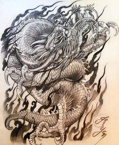 Идея для тату с драконом