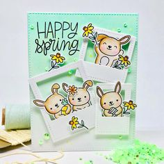 Instagram Cute Cards, Diy Cards, Pretty Pink Posh, Friends Set, We Are Love, Happy Spring, Paper Folding, Spring Green, Xmas Cards