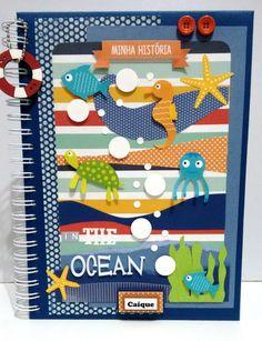 Scrapbook Cover, Album Scrapbook, Diy And Crafts, Crafts For Kids, Paper Crafts, All Paper, Paper Art, Handmade Sheet, Baby Album