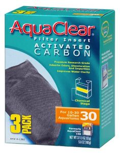 Hagen Activated Carbon Filter Insert for AquaClear 30/150 - 3 pk - ON SALE! http://www.saltwaterfish.com/product-hagen-activated-carbon-filter-insert-for-aquaclear-30150-3-pk