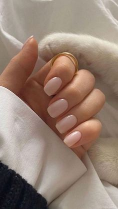 Perfect Nails, Gorgeous Nails, Pretty Nails, Classy Acrylic Nails, Best Acrylic Nails, Classy Gel Nails, Nude Nails, Nail Manicure, Milky Nails