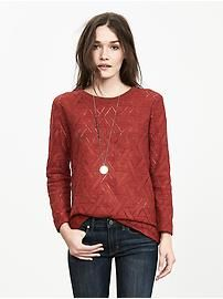 Geo Lace Sweatshirt