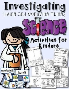 Help your little scientists explore the world of living and nonliving things. This packet includes:1. Living and Nonliving Pocket Chart: 12 colored cards to sort. 2 labels.2. Living and Nonliving Science Reader: 9-page interactive science reader about living and nonliving things.3.