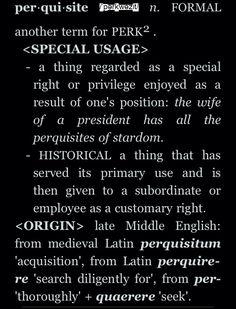 Perquisite