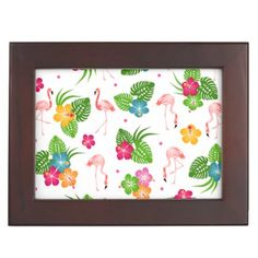 Flamingo Birds Memory Box - home gifts ideas decor special unique custom individual customized individualized