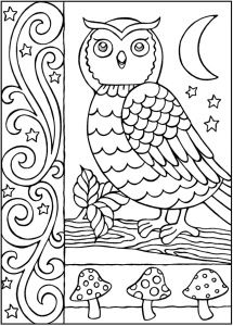 Free Owl Coloring Page For Adults And Teens