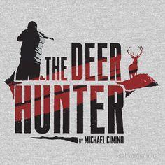 The Deer Hunter - T-Shirt Design - robert de niro, movie, war, vietnam, film, cinema, michael cimino, christopher walken, platoon, apocalypse now, russian roulette, oscar, die durch die hölle gehen, thunderbolt and lightfoot, classic, alternate Movie Poster