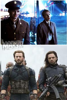Bucky Barnes and Steve Rogers Marvel Funny, Marvel Memes, Marvel Dc Comics, Marvel Avengers, Chris Evans, Marvel Universe, Bucky Barnes Captain America, James Barnes, Marvel Photo