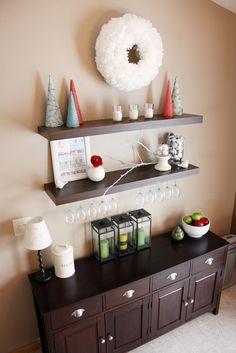 Pinterest Shelves Wine Gl Storage And Striped Walls