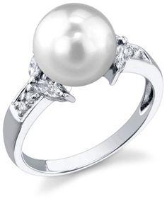 South Sea Pearl & Diamond Fiore Ring pearl ring