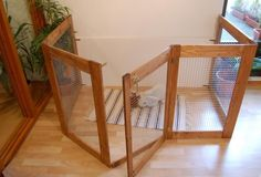 I love this wooden rabbit enclosure. It would make a brilliant playpen for my chinchillas.