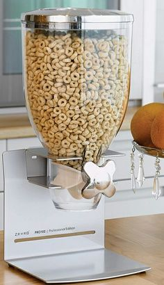 Silver professional cereal dispenser #product_design