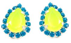 #r29summerstyle   Yellow Tear Studs from ShopJeen.com. $15. Get 50% off from R29 Shops here: www.refinery29.co...
