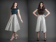 2 in 1 Dress - Blue & Navy Blue 21st Dresses, Blue Dresses, Waist Skirt, High Waisted Skirt, Reversible Dress, Cashmere, Navy Blue, Silk, Skirts