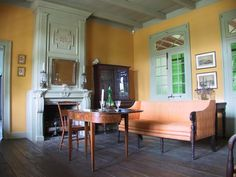 Sitting room of Pitot House in New Orleans.