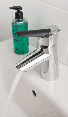 Oras Optima wash basin faucet with Eco-button. Washbasin faucet with an easy-grip lever equipped with an eco-button for limiting water temperature and flow-rate.