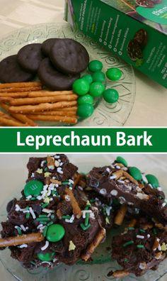 Leprechaun Bark - Easy, fun recipe for a St. Patricks day treat.