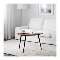 IKEA - LÖVBACKEN, Mesa de apoio, , O distinto padrão do grão na chapa de álamo confere características únicas a cada móvel.O tampo em chapa é duradouro, resiste a manchas e é fácil de limpar.Os pés de plástico ajudam a proteger o chão dos riscos.