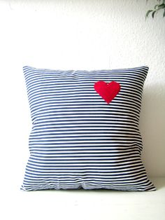 Pillow with a heart