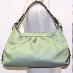 FENDI  mint green Hobo DOCTOR B handbag made in ITALY LEATHER  MSRP $1560 #Fendi #Hobo