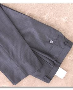a quick tutorial on how to hem pants or slacks with a blind hem - this is easier than you think!