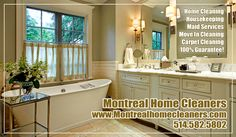 If you are looking for the best residential housekeeping service in Montreal than look no further than Montreal Home Cleaners 514.582.5802 \  This group of housekeeping and maid services have been in business for many years with clients who are in need of post construction cleanup, house cleaning, and move in / move out cleaning services.  #housekeeping #cleaningservice #montrealcleaners #maidservices