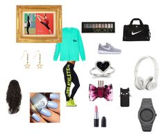 """gym girl"" by smiley37075 ❤ liked on Polyvore featuring Victoria's Secret, NIKE, Beats by Dr. Dre, Kevin Jewelers, CC, Accessorize, Forever 21 and Viktor & Rolf"