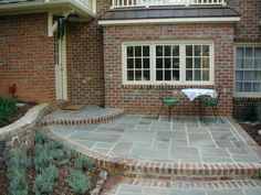 brick and concrete patio
