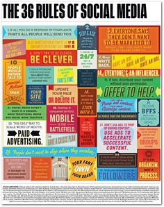 The 36 'rules' of social media #infographics