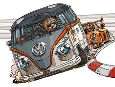 VW TRANSPORTER T1 DRAW #draw  #art #beetle #fusca #artist #taxi #love #cars #retro #vintage #instagram #t1 #transporter #combi #racing