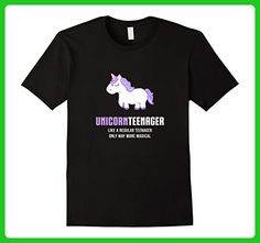 Mens Unicorn Teenager Shirt, Funny Cute Magical Gift XL Black - Fantasy sci fi shirts (*Amazon Partner-Link)