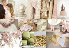 All my favorite things ftw! macaroons, sparkles, green, gold, and pink. <3