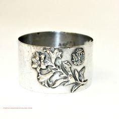 #Antique #Victorian #French #Notre Dame Silver #Souvenir Napkin Ring